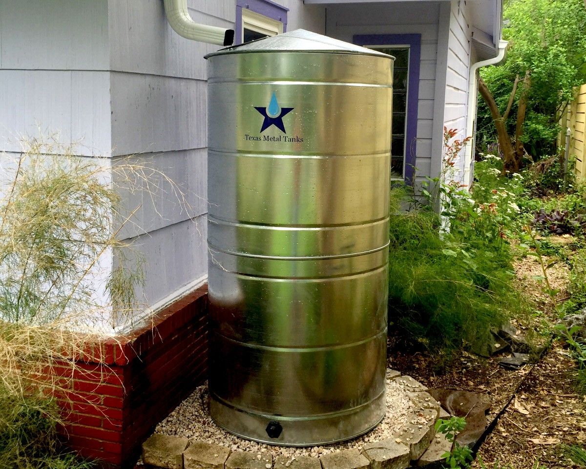 300 gallon stainless steel residential rainwater storage tank