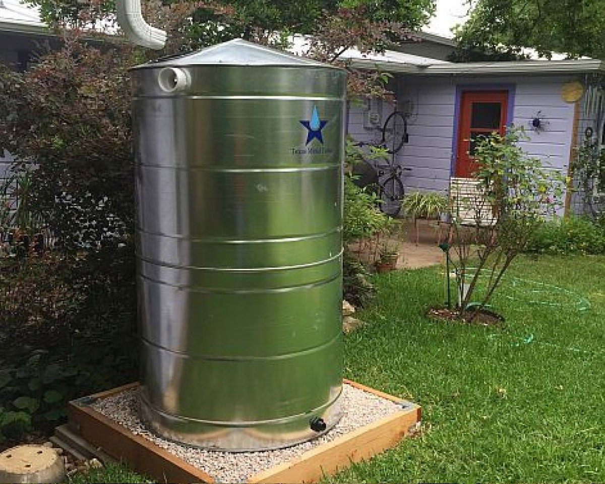 stainless steel suburban rain collection tank