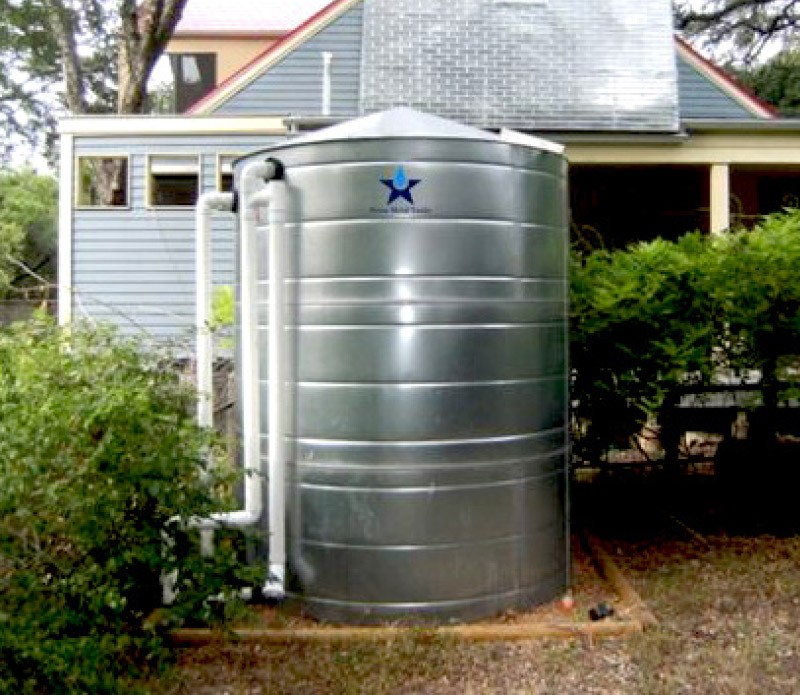 rural rainwater collection tank