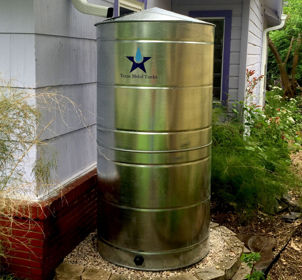 300 gallon stainless steel cistern