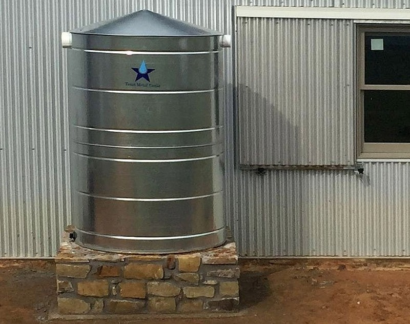 500 gallon commercial metal rain storage tank